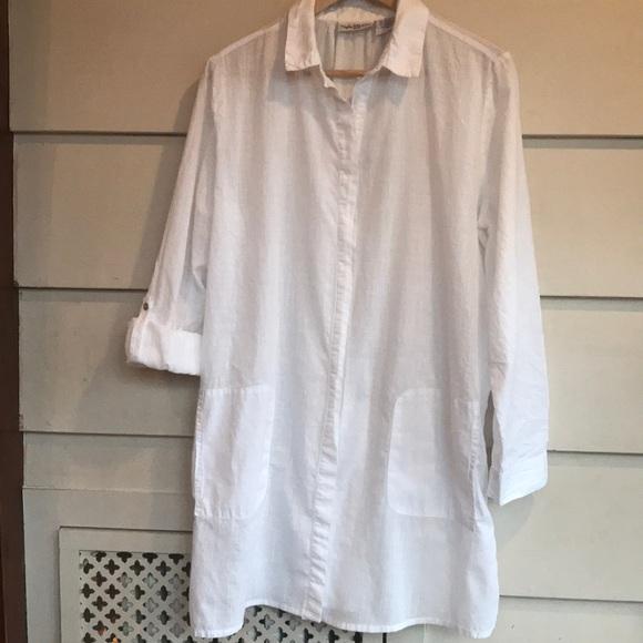 f8d4422175 Paradise Bay Swim | Sheer White Beach Coverup Shirt Dress | Poshmark